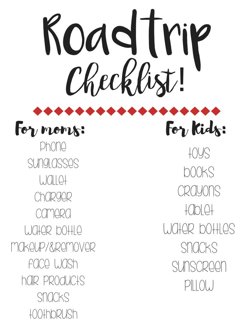 Roadtrip checklist