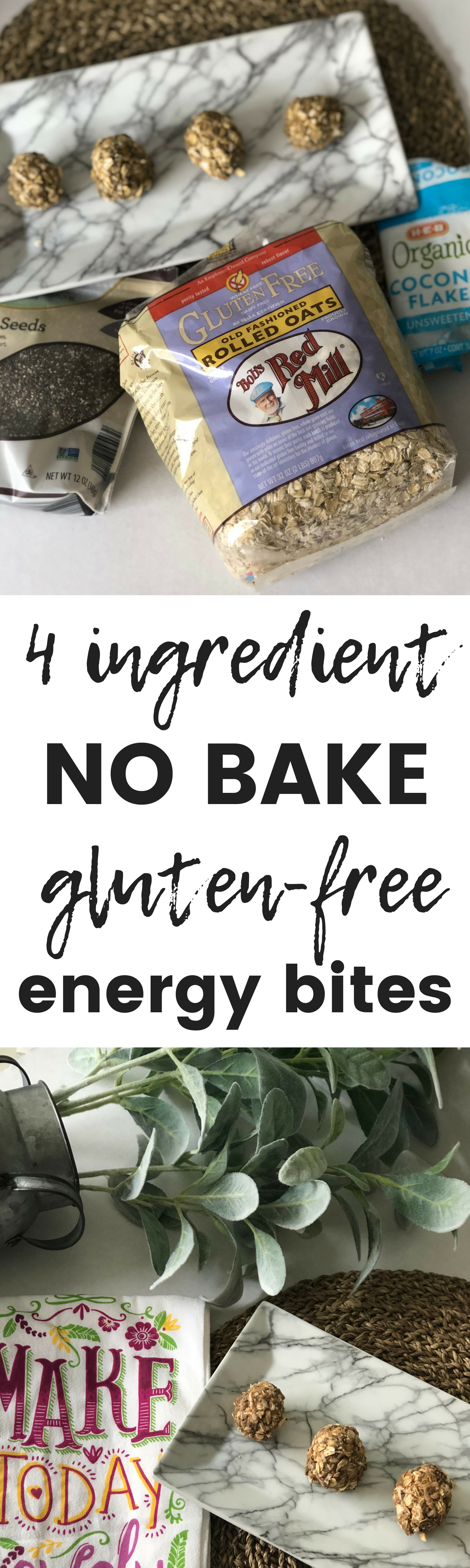 gluten free no bake energy bites