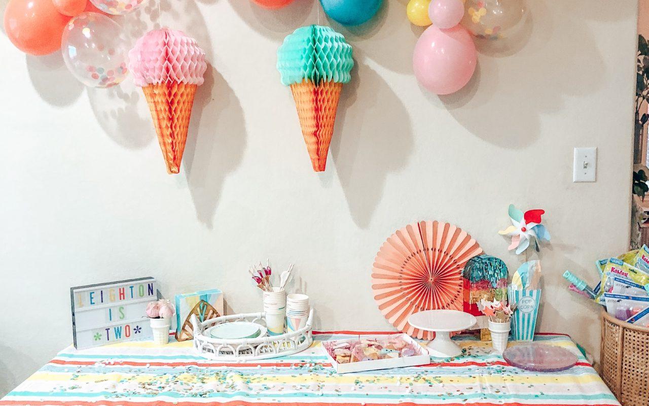 Leighton's ice cream birthday party!