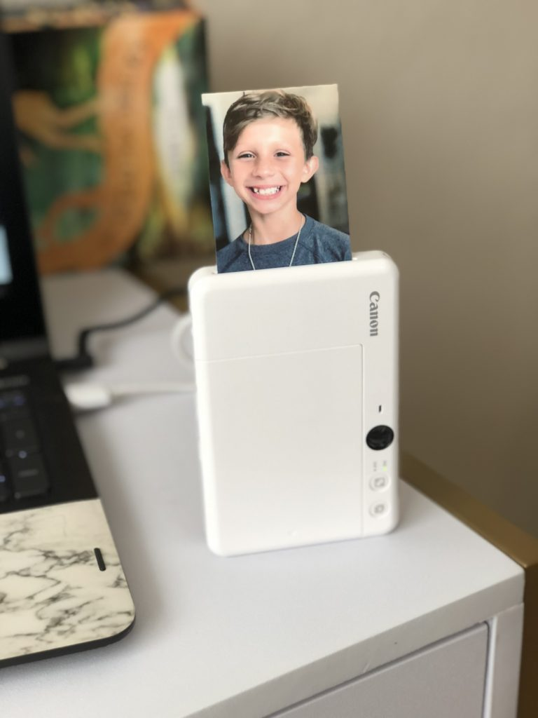 """When you connect your smartphone to the Canon Mini Print app via Bluetooth you can even use fun AR filters and add effects, frames, text, and stickers to your 2""""x3"""" peel-and-stick photos!"""